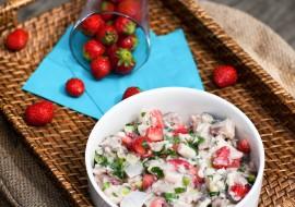 Ceviche de maquereau, fraises