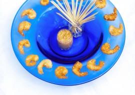 Crevettes frites à la noix de coco
