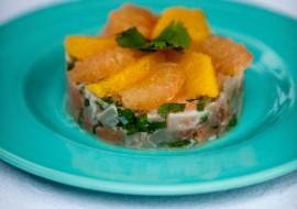 Tartare de bar & saumon aux agrumes