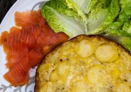 Tortilla au saumon fumé