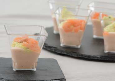 VERRINE DUO SAUMONS CITRON ET ANETH